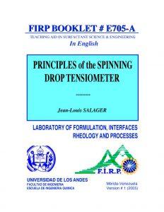 E705A Principle of the spinning drop tensiometer